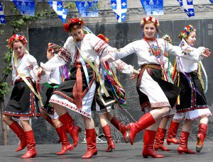 Dancers at a Ukrainian Dance Festival